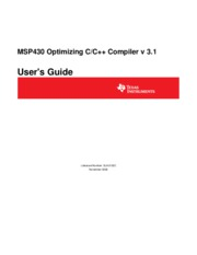 slau132c - MSP430 Optimizing C++ Compiler v 3.1