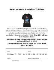 Read Across Shirts