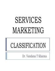 Services Classification