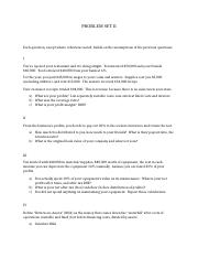 INTRO FINANCE - PROBLEM SET 2