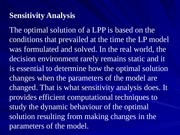 L18_Sensitivity analysis - Changes affecting feasibility