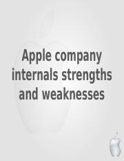 Apple-inc-Strength-Wekanesses