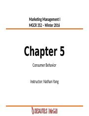 8_Chapter 5-Consumer Behavior-Winter2016_MyCourses.pptx