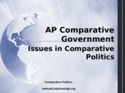 1 Issues in Comparative Politics
