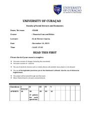 exam financial laws and ethics 20151214.doc