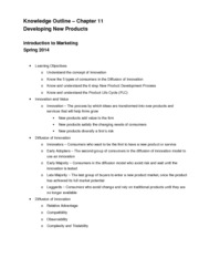 Chapter 11 Knowledge Outline
