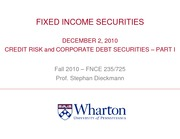 12_02_2010 Credit Risk and Corporate Debt Securities