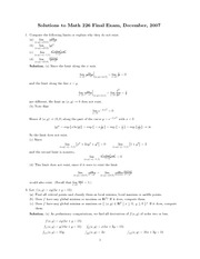 Math226 Final exam_2007December_Solution