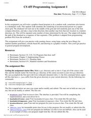 CSCI 455_ProgrammingAssignment1_Fall2014