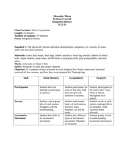 Integrated History Lesson Plan final copy