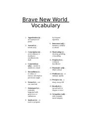 Brave New World Vocab 0708