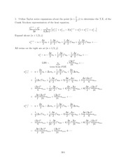 Differential Equations Lecture Work Solutions 304