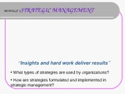 Module 7 Strategy - Strategic Mgt albo