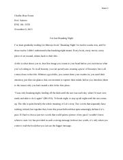 literacy narrative essay final draft kala carroll essay  5 pages essay 3 journal odt