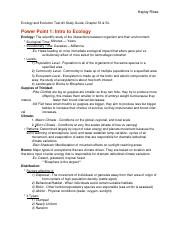 Test #3 Study Guide
