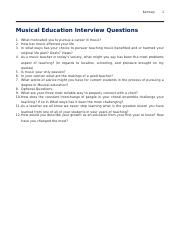 Musical Education Interview Questions
