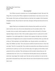 the things they carried outline essay thesis statement  the things they carried essay 3 pages the living dead essay
