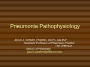 Pneumonia Pathophysiology 2012 (1)