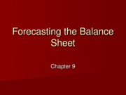 9 - Projecting the Balance Sheet