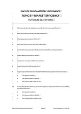 FOF Topic 9 Tutorial Questions