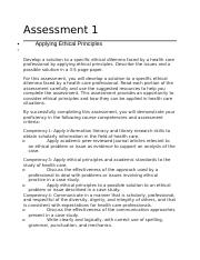 Assessment 1 Developing a Health Care Perspective.docx