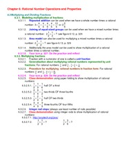 Lecture Notes on Multiplying and Dividing Fractions