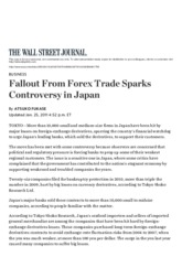 Fallout From Forex Trade Sparks Controversy in Japan - WSJ