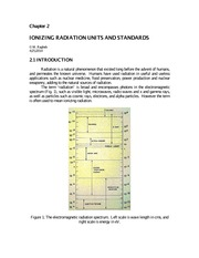 Ionizing Radiation Units and Standards