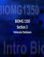 Section 3 - Molecular Databases (S2015-Students) (1).pptx