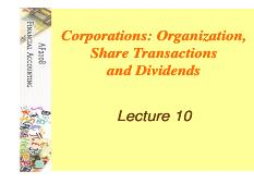 # Lecture10-Share Trans and Dividends