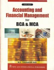 Rao M.E. Thukaram-Accounting and Financial Management for BCA and MCA-New Age Publications (Academic