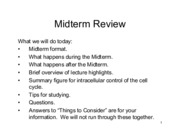 Lecture Midterm Review 2015