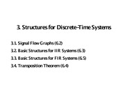 3. Structures for Discrete-Time Systems