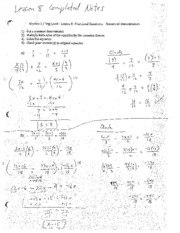 Fractional Equations and Numerical Denominators