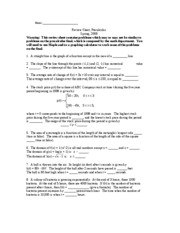 Precalculus Final Exam Review Sheet - Name:_ Review Sheet, Precalculus