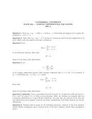 Math 294_Homework on Wave Equation in Even and Odd Dimensions