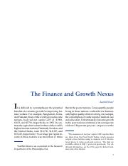 The Finance and Growth Nexus.pdf