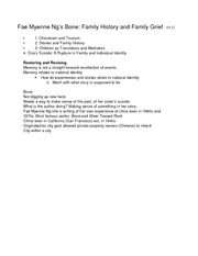 English 169-Notes-Fae Myenne Ng
