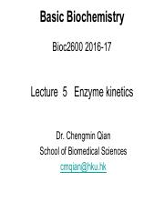 Lecture 5_Enzyme kinetics