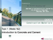 Topic 1_Concrete and Cement