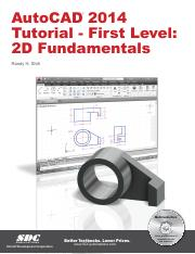 AutoCAD 2014 - 1st level - tutorial - 2D