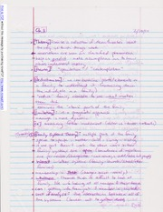 Notes on Family Theories