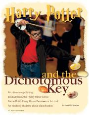 Harry Potter and the Dichotomous Key