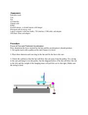 Physics 2211 Lab projectile