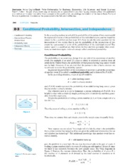8-3 Conditional Probability, Intesection, and Independence