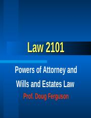Law+101+-+POA+and+Wills+2016