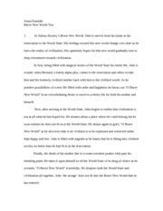 brave new world alternate ending essay jenna franklin jenna  2 pages brave new world test