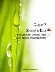 Chapter 2 Sources of Data
