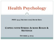 Stress Across Roles