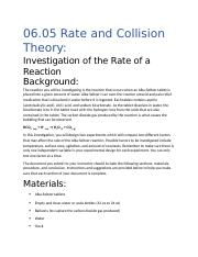 Rate and Collision Theory